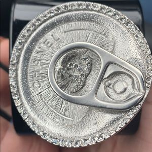Rare Chanel can soup bracelet